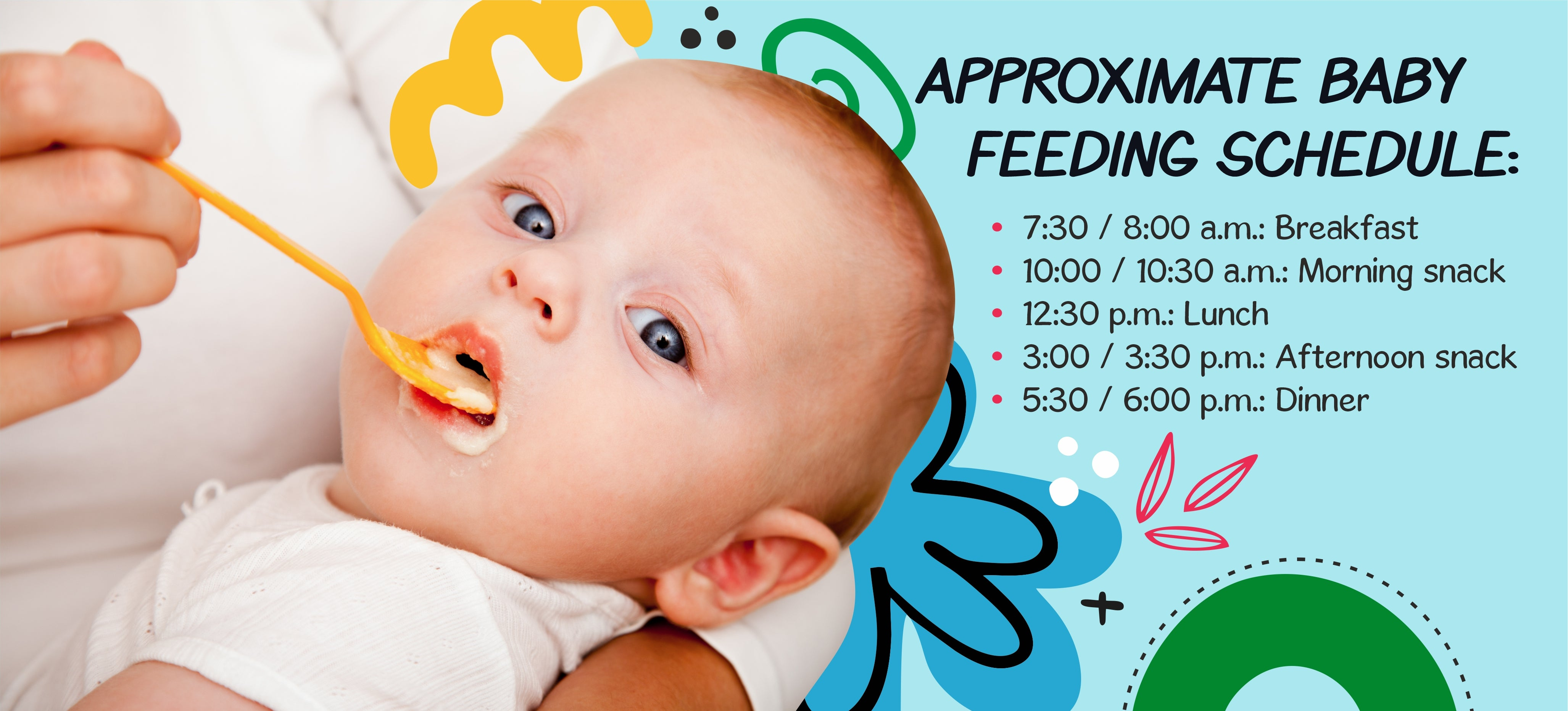 Here is a sample schedule that you can use as a starting point and adjust to suit your toddler's needs.