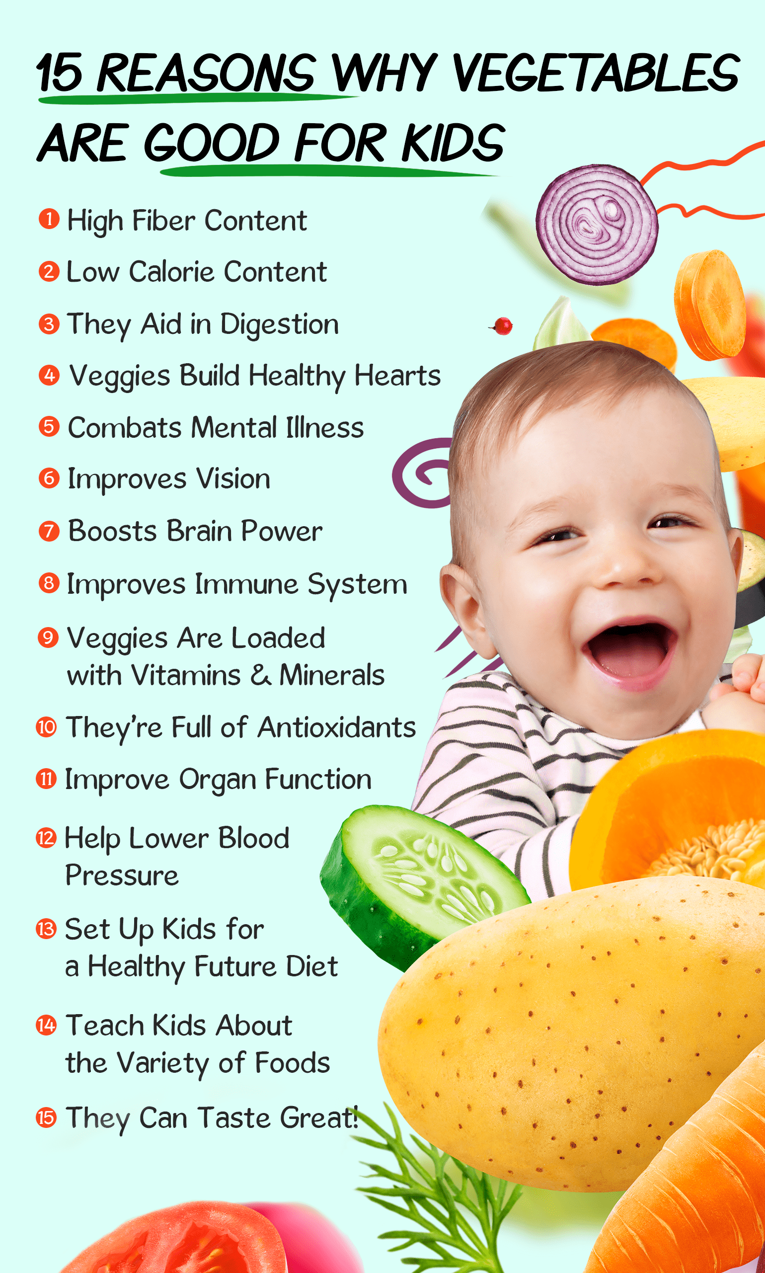 15 reasons why vegetables are good for kids