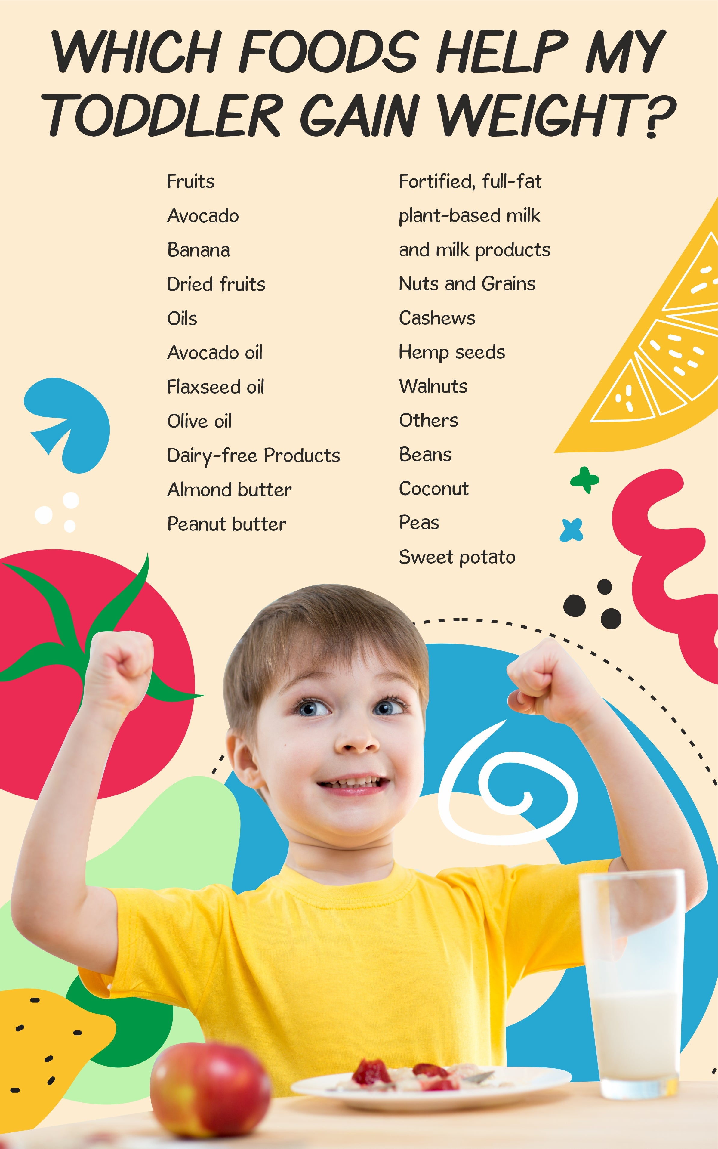 Which Foods Help My Toddler Gain Weight?