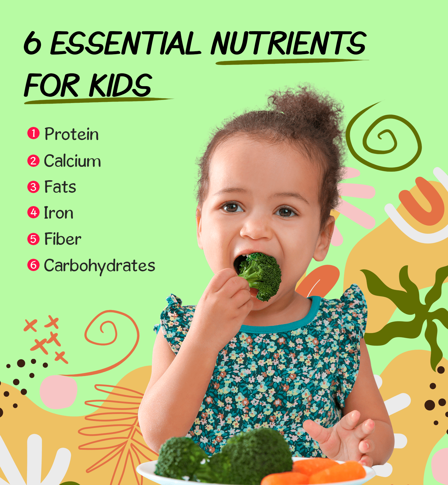 6 essential nutrients for kids