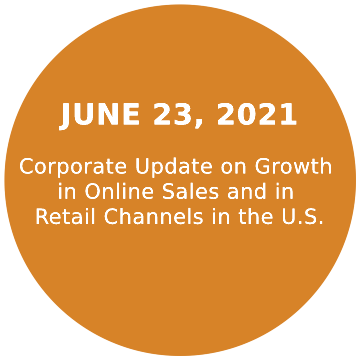 Corporate Update on Growth in Online Sales and in Retail Channels in the U.S.