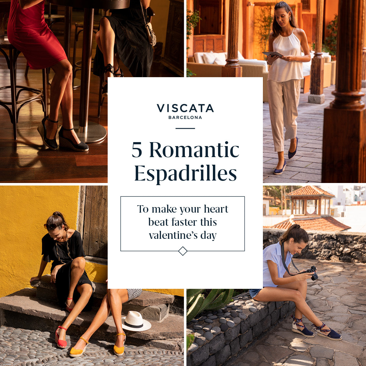 5 Romantic Espadrilles to make your heart beat