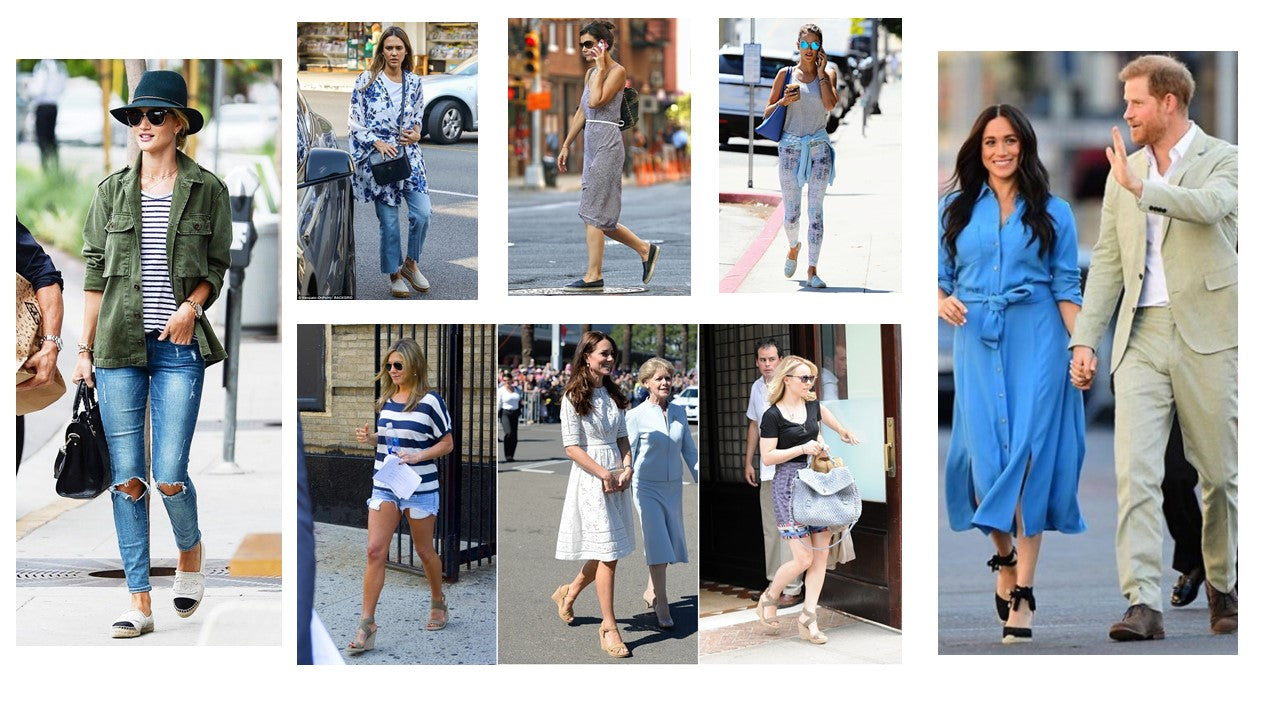 Celebrities and Royalties wearing espadrilles