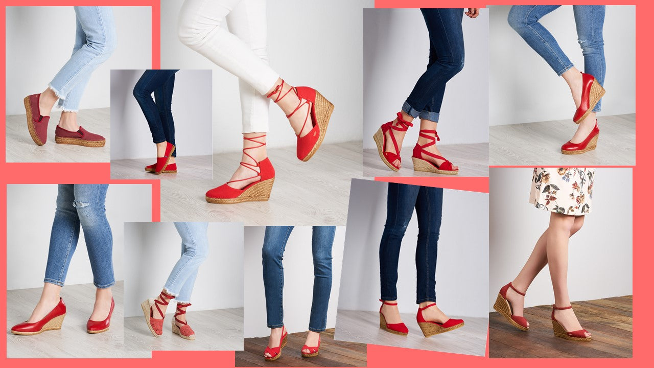 Viscata's Red Styles - Flat and Wedge espadrilles