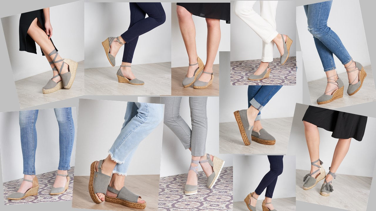 Viscata's Ash Styles- Flat and Wedge Espadrilles