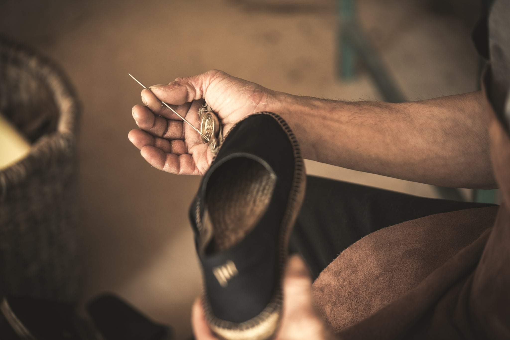 Eco-friendly shoes. Eco-friendly handcrafting.