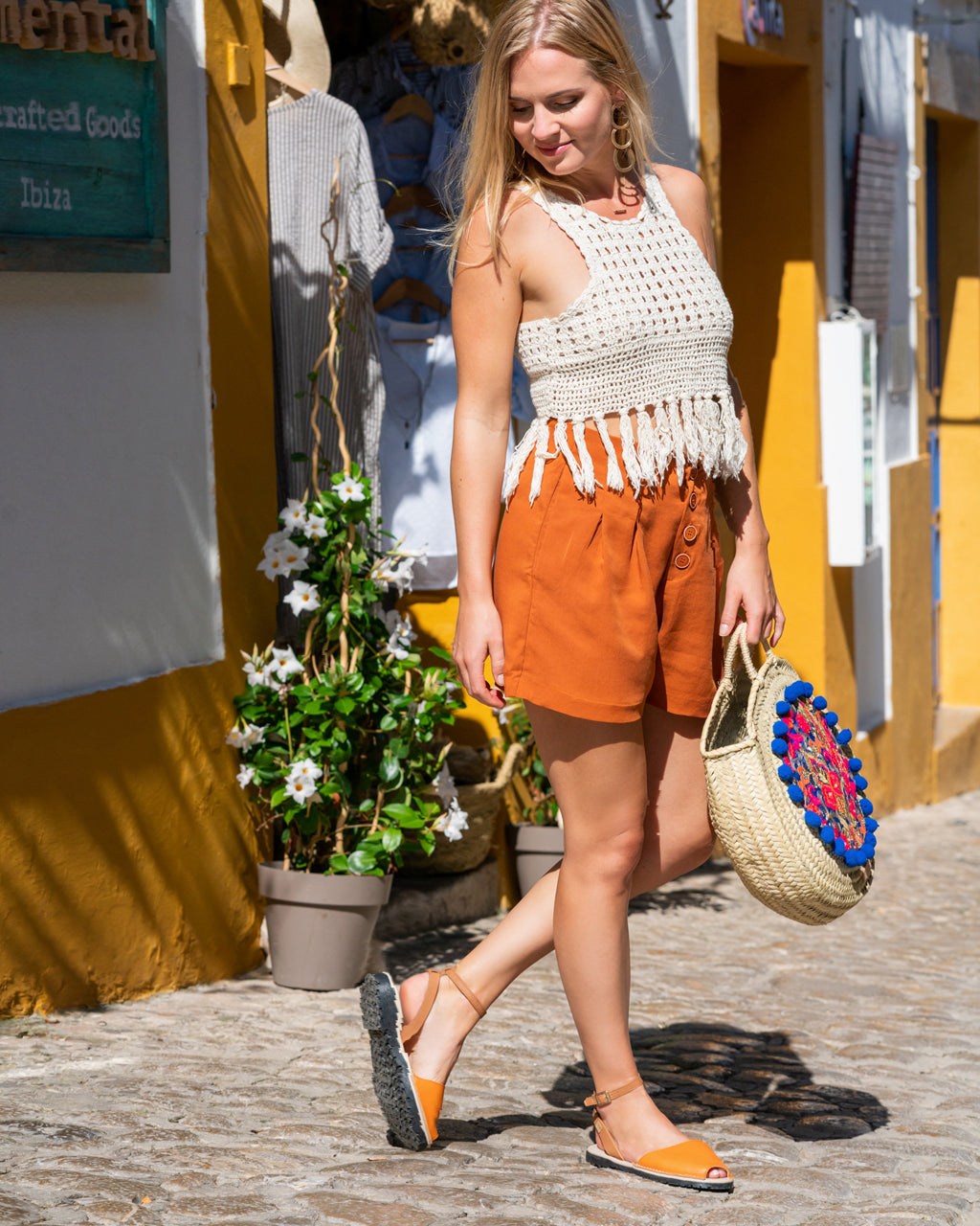 Espadrilles-Avarca Sandals Womens-Leather Viscata Made in Spain