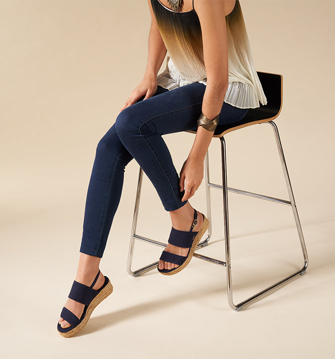 Open Toe Low Wedge Malaret by Viscata SS20