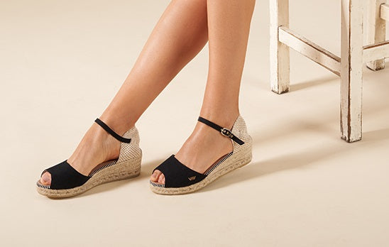 Viscata's Cavall Open-toed Low Wedges