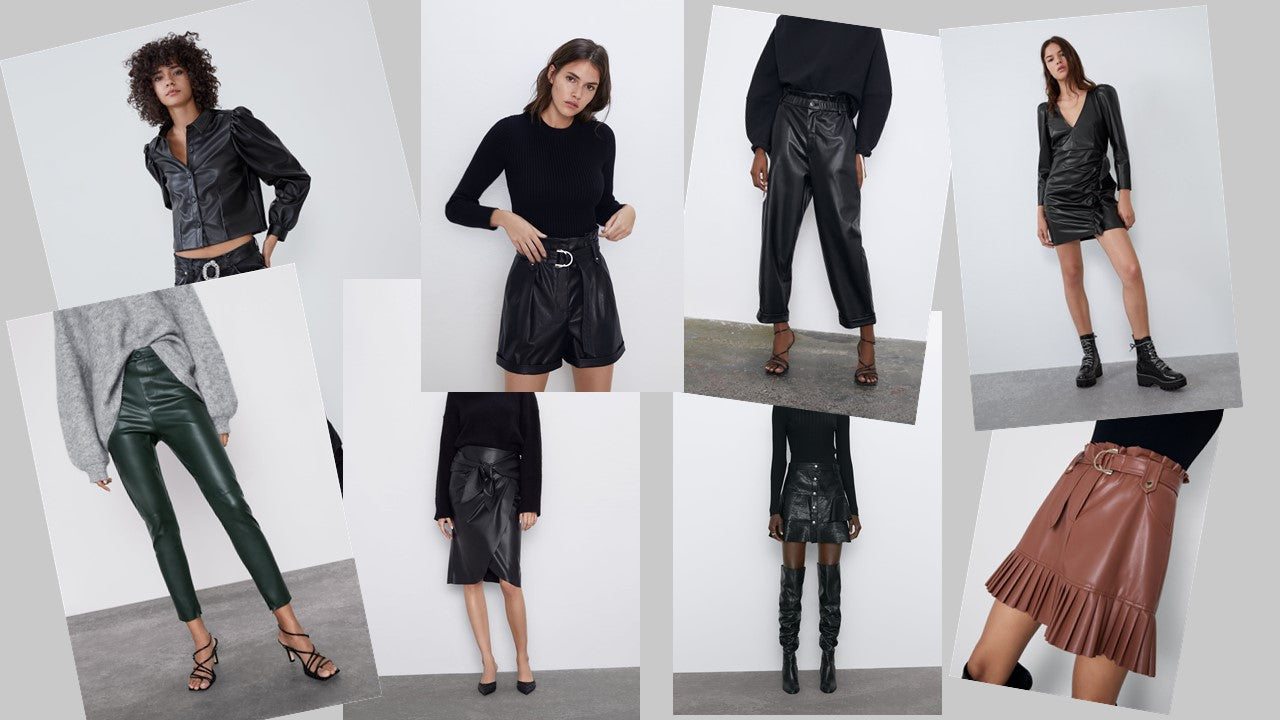 Faux leather pieces - ZARA
