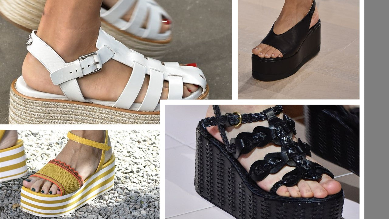 SS20 Flatforms as seen on the runways