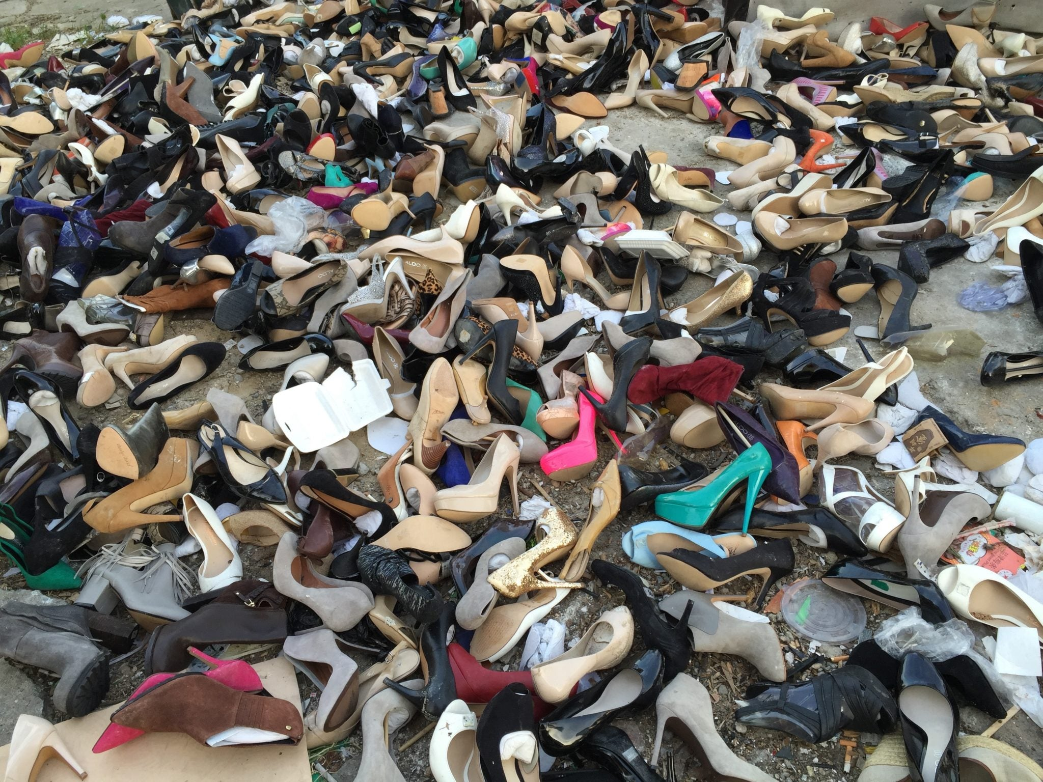 Shoes in landfill