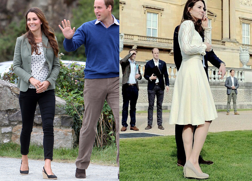 Kate Middleton Casual Look Espadrilles