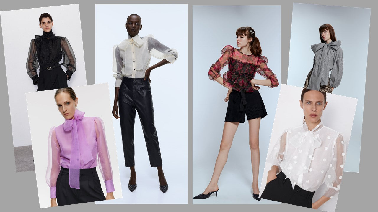 Puffy Sleeves and Bow Blouses - Zara