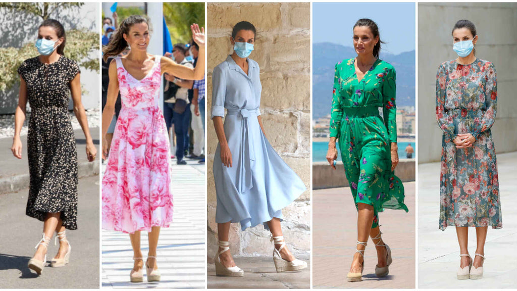 Queen Letizia wearing espadrilles