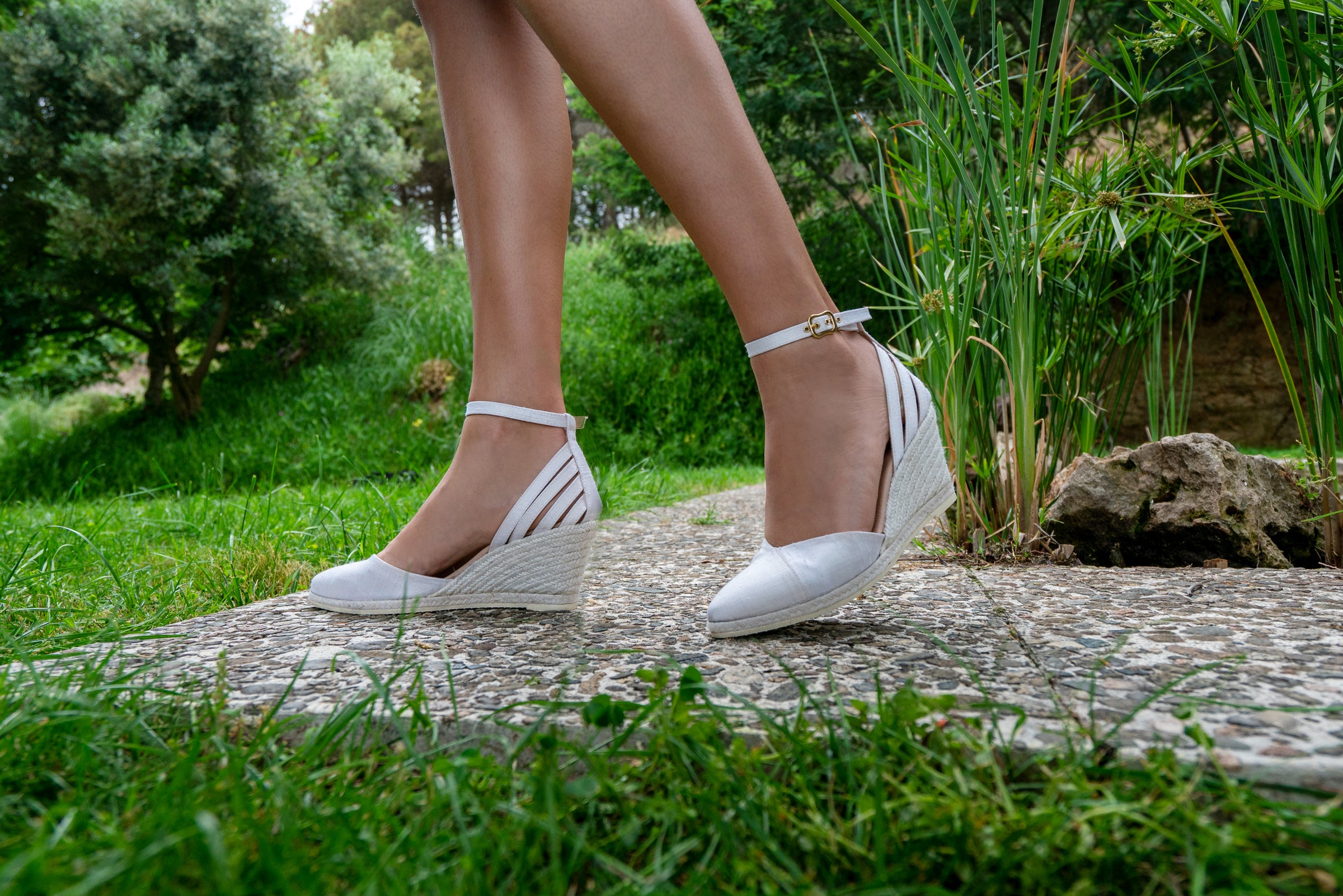 Ullastret Silk Wedges - Ivory Bridal Collection