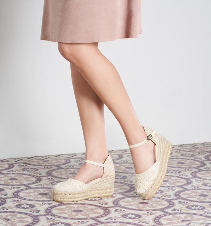 Viscata Made in Spain Espadrille Wedges Bridal Collection Solsona Platforms