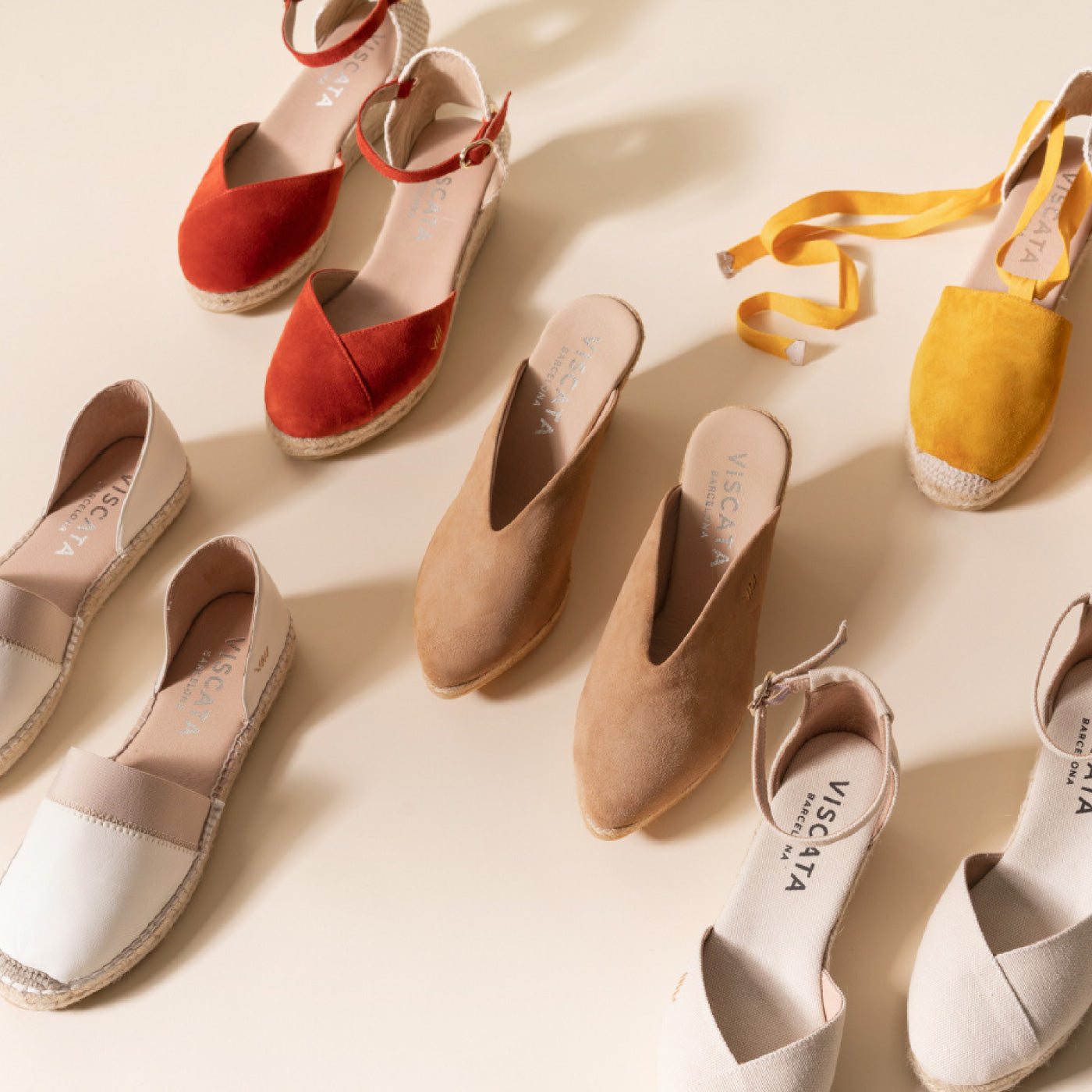 Viscata espadrilles wedges flats made in Spain handcrafting