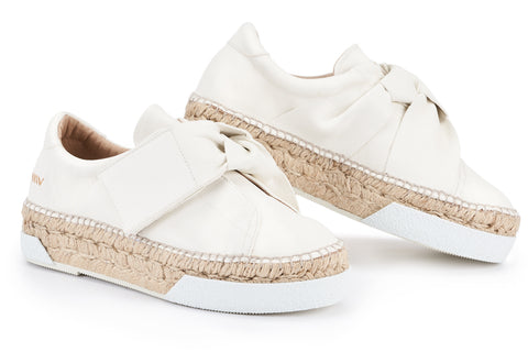Joana Leather Knotted espadrilles