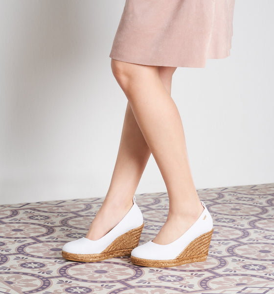Marquesa Canvas Wedge Espadrilles - White