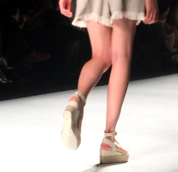 Espadrilles on the runway