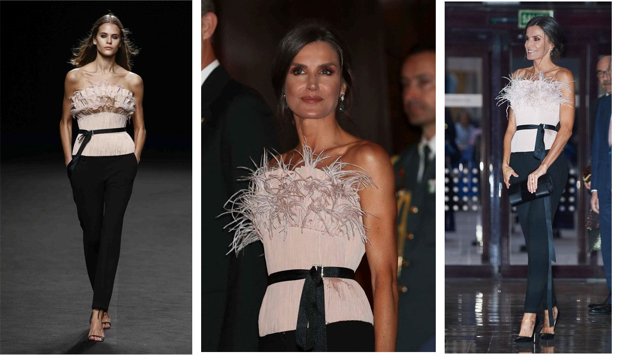 Feathered top - The 2nd Skin - Queen Letizia