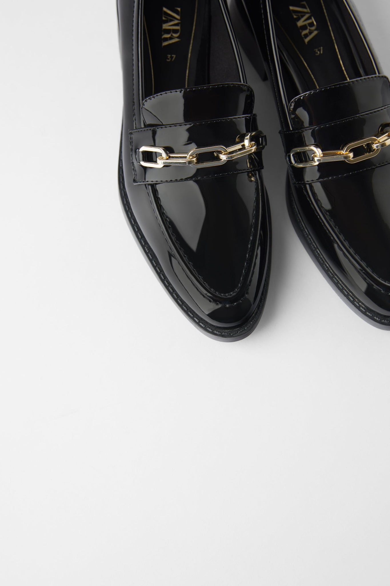 Black Loafers - Zara