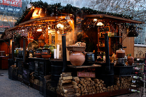 Christmas market Mulled Wine Stall