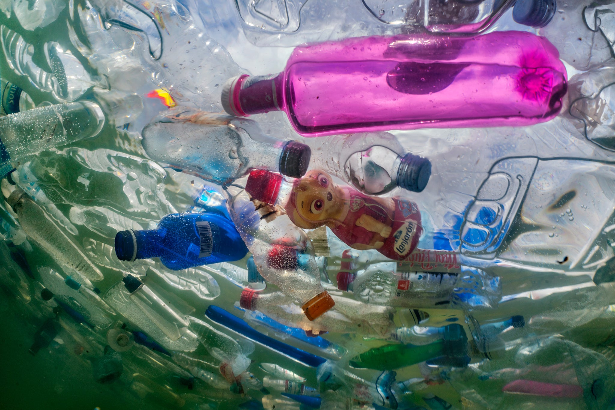 recycling marine plastic bottles