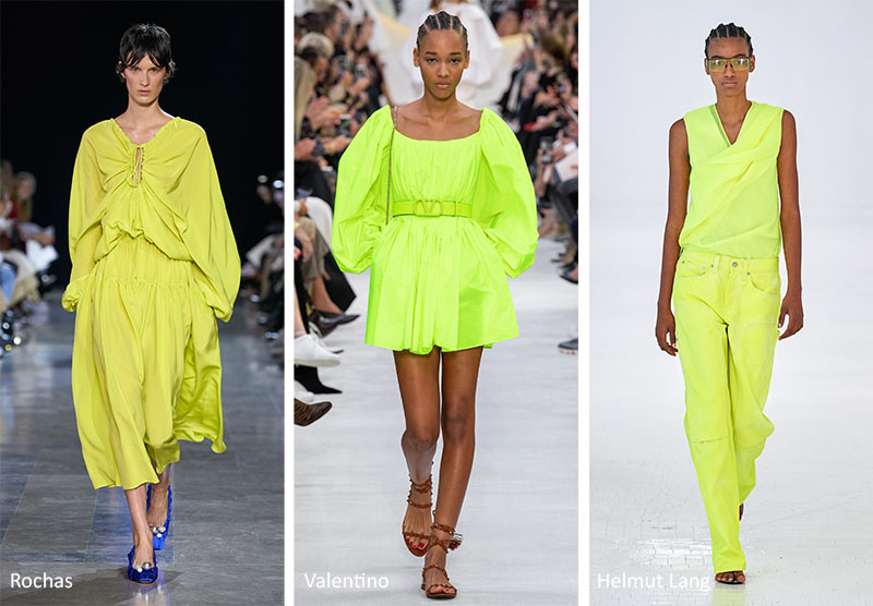 SS20 Neon colors as seen on runways