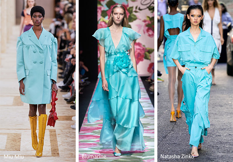 SS20 Tanager Turquoise as seen on the runway