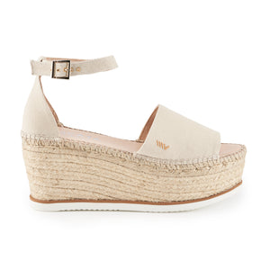 Monjoi Canvas Mix Sole Platform - Beige
