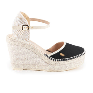 Tamariu Canvas Wedges - Black
