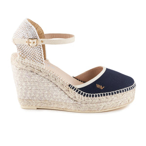 Tamariu Canvas Wedges - Navy