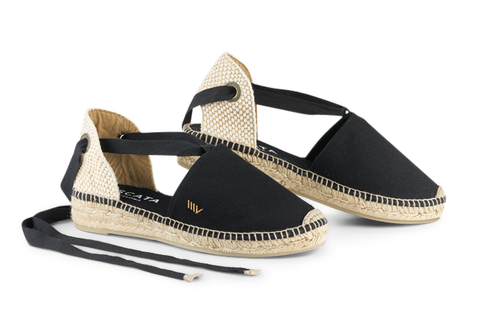 </p> Golfet canvas lace-up flat espadrilles - a closer look