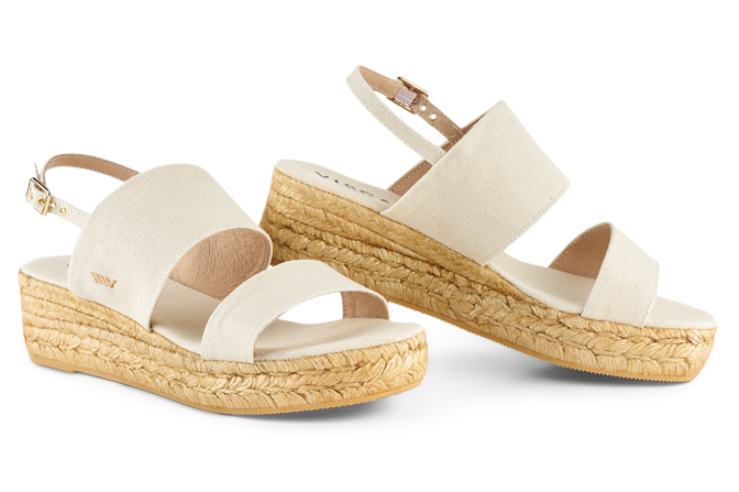 </p> Malaret canvas double band wedge - a closer look