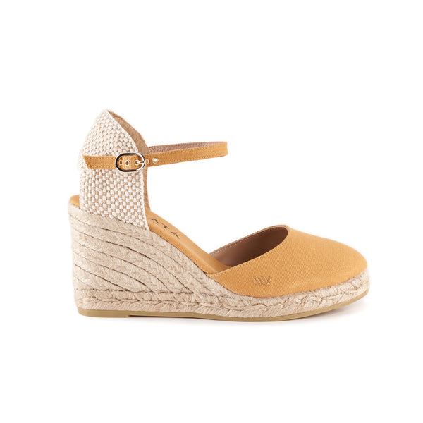 Satuna Canvas Wedges - Mustard