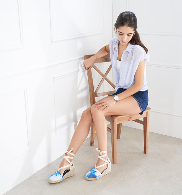 Escala Canvas Wedges - Tie Dye Navy - VISCATA meta-lifestyle
