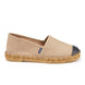 Barceloneta Leather Espadrilles - Beige Black (Elastic Inseam) 1