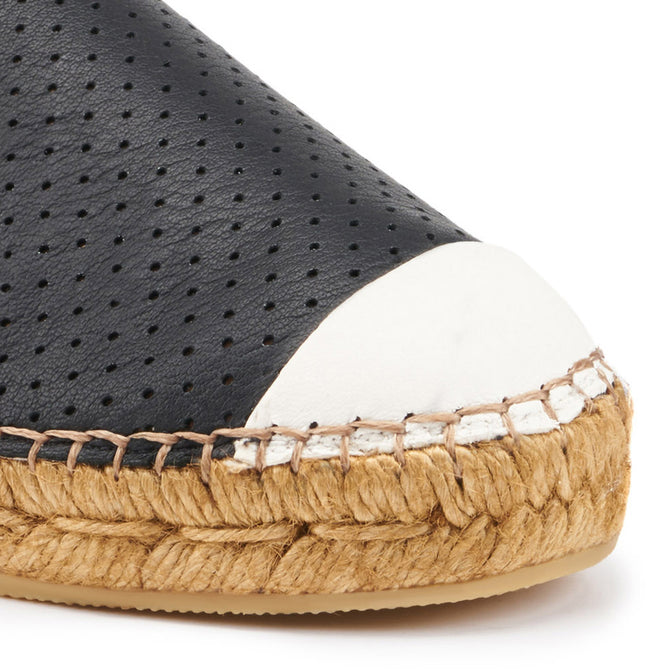 Buy Barceloneta Leather Espadrilles - Black Ivory (Elastic Inseam) online