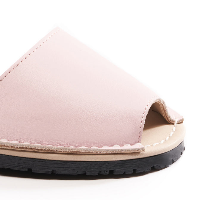 Buy Menorquina Leather Ankle Strap Avarcas - Pink online