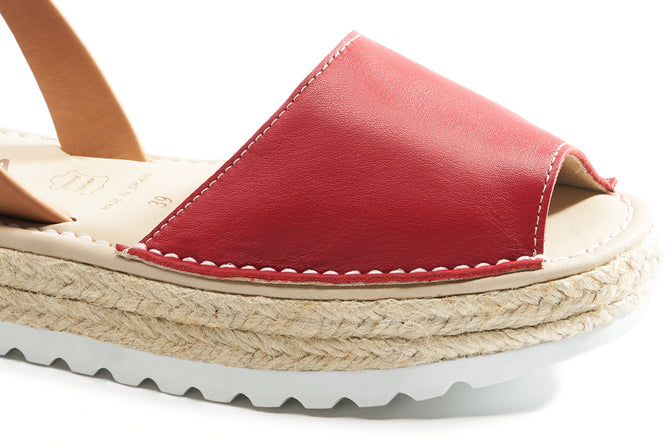 Buy Ciutadella Leather Avarcas - Red online