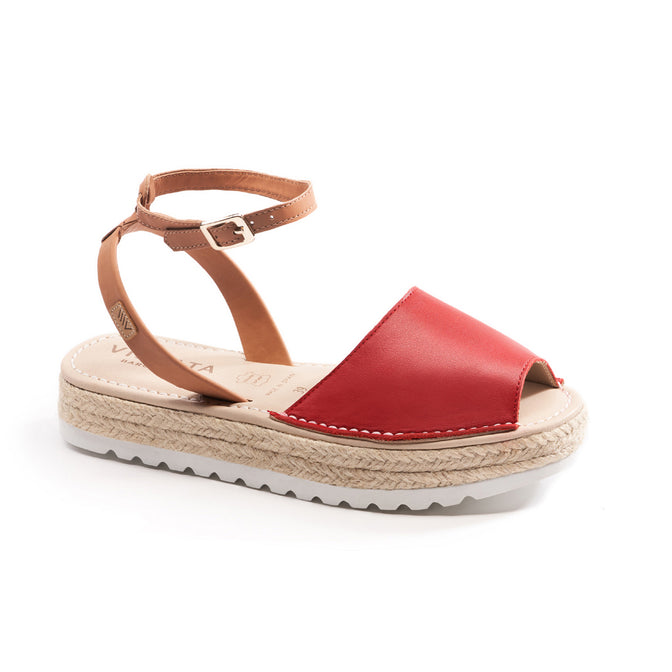 Buy Ciutadella Leather Ankle Strap Avarcas - Red online