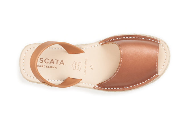 Buy Ciutadella Leather Avarcas - Sahara Brown online