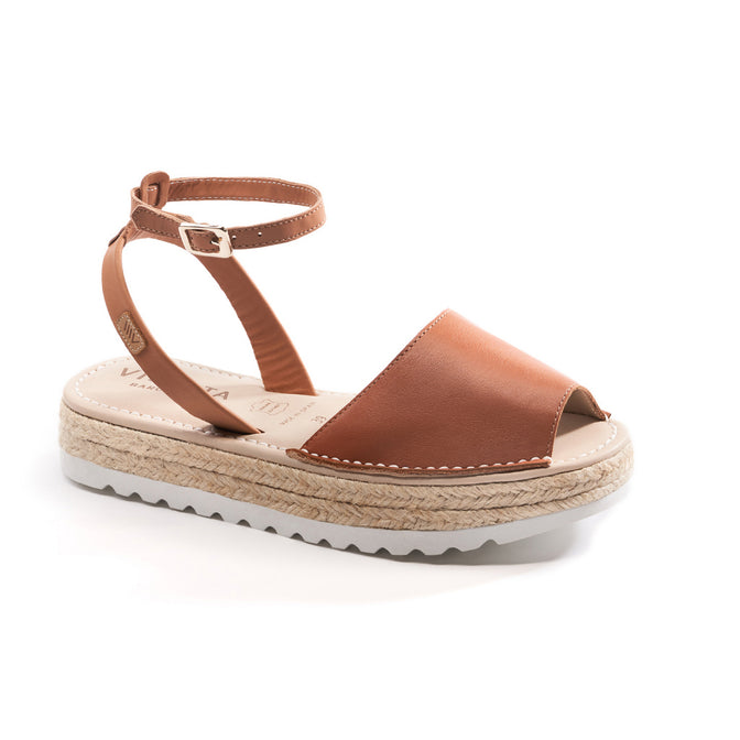 Buy Ciutadella Leather Ankle Strap Avarcas - Sahara Brown online