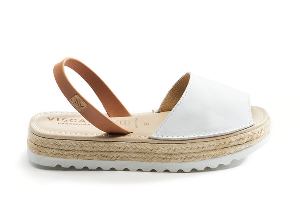 Ciutadella Leather Avarcas - White