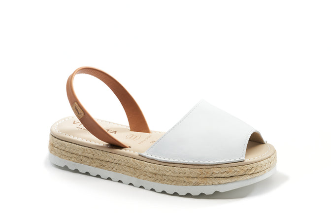 Buy Ciutadella Leather Avarcas - White online