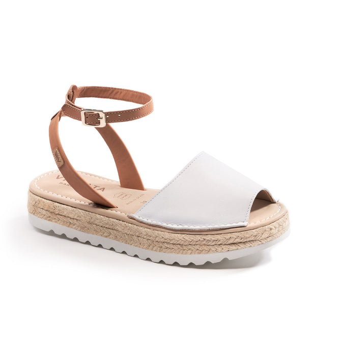 Buy Ciutadella Leather Ankle Strap Avarcas - White online