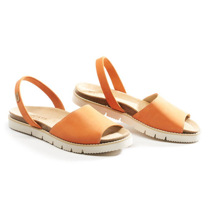 Buy Mastella Suede Avarcas - Orange online