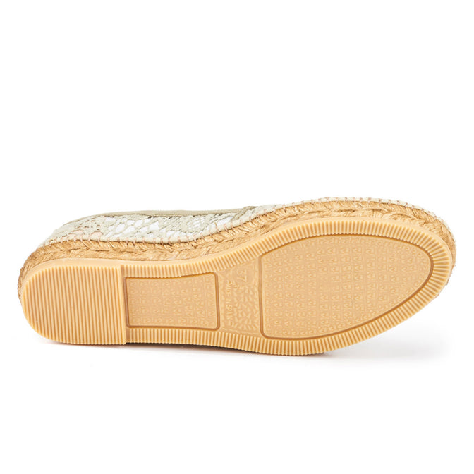 Buy Garraf Crochet Espadrilles - Military Green online